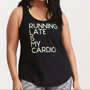 Torrid Active Running Late is My Cardio Tank Top